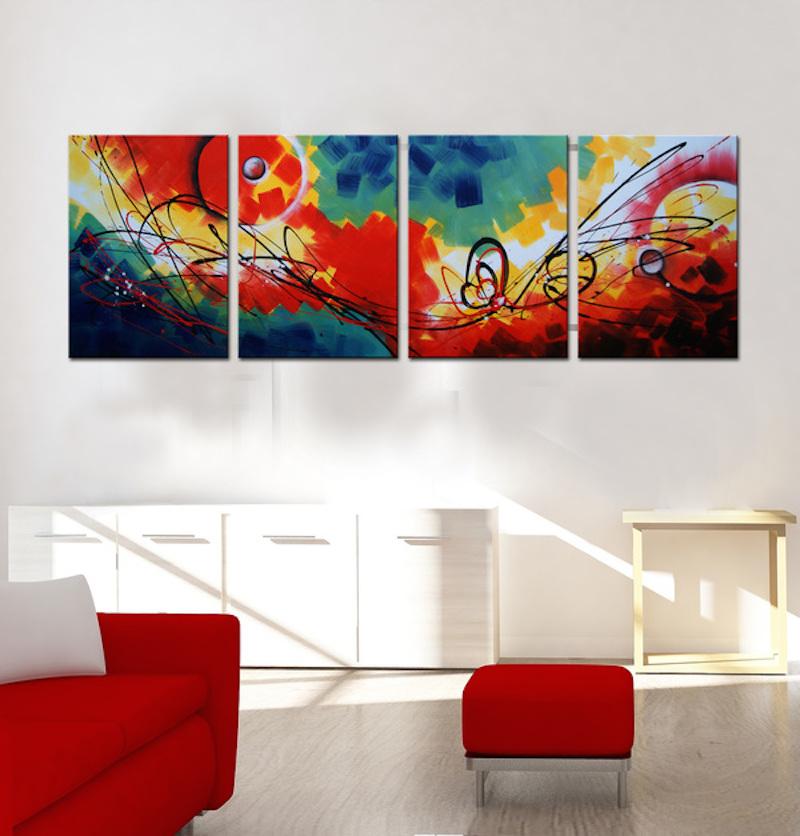 Få noget på væggene - køb et sæt billige malerier - sommerglæde